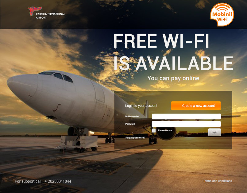 1 - Mobinil Wi-Fi in Cairo international airport