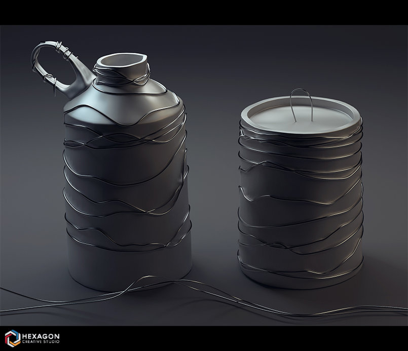 Digital Art - The Metallic Jar