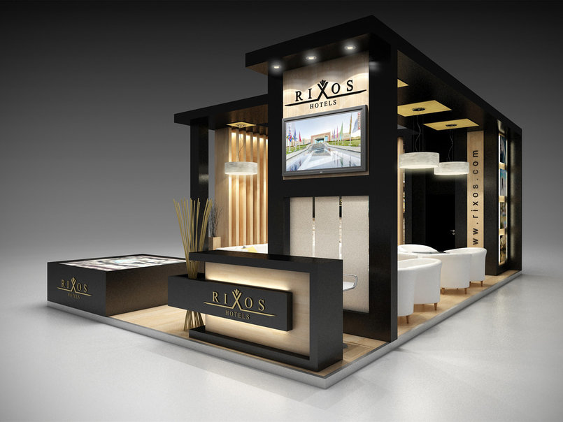 Modern Exhibition Stand Near Me : Rixos hotel booth by amr eldesouky tasmeem me