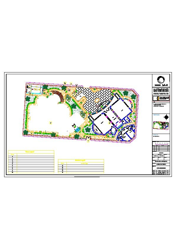 Site plan as built