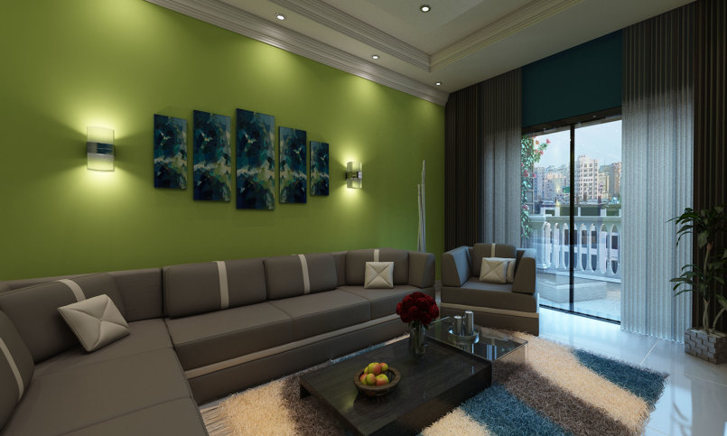 Living Area Interior Design - ALexandria