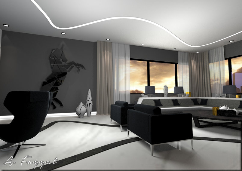 ULTRA MODERN DESIGN FOR VILLA SALON