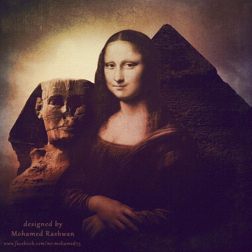التخيل لوحة الموناليزا فى الأهرامات