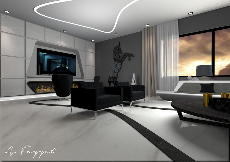 Ultra Modern Design For Villa Salon By Aboud Fayyat Fayyat Tasmeem Me