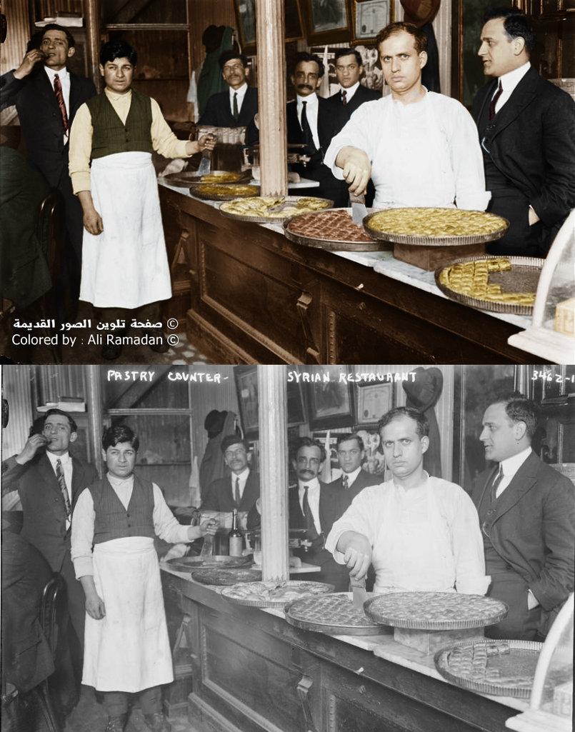 محل حلويات سوري في نيويورك - الولايات المتحدة الأمريكية في بداية العشرينات