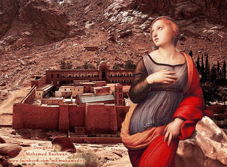 التخيل لوحة راهبة الأسكندرية فى دير سانت كاترين