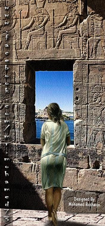 التخيل شخص عند النافذه فى معبد فيلة
