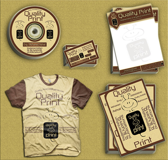 تصميم المطبوعات التجارية  Quality Print