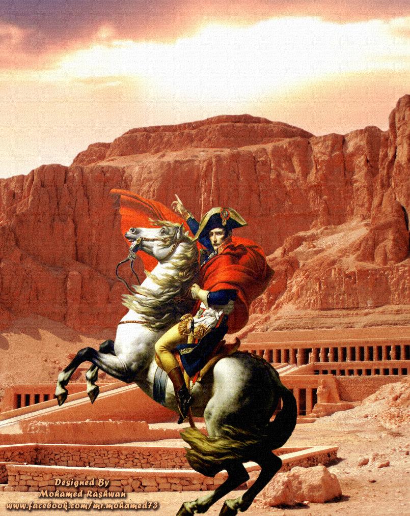 التخيل لوحة نابليون فى معبد حتشبسوت