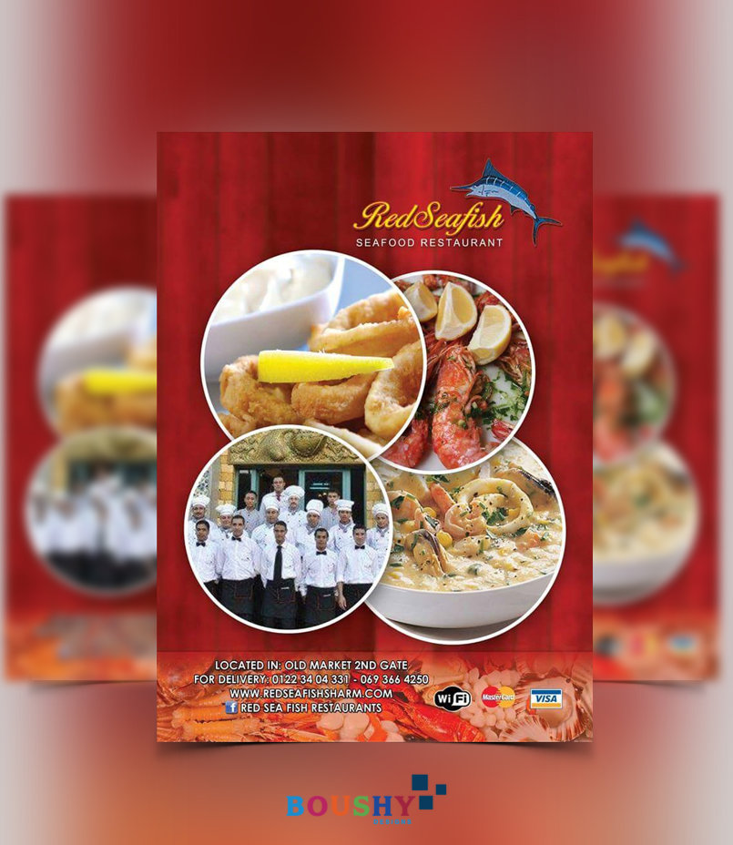 Red Sea Fish Restaurant  Flyer