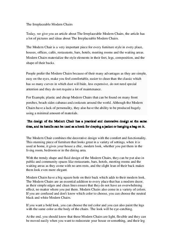 كتابة 20 مقالة عن الأثاث المنزلي باللغة الإنجليزية