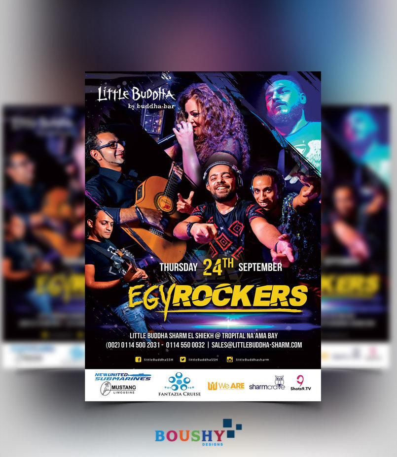 Egy Rockers Band Event Flyer
