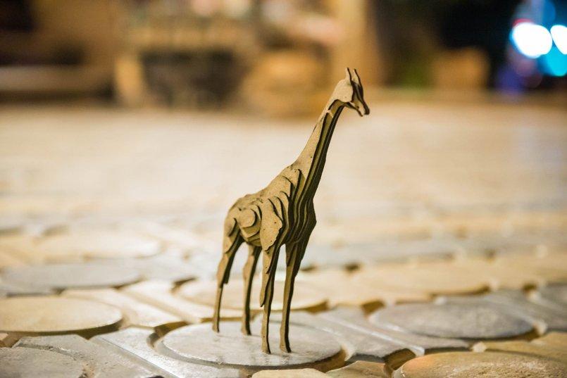 زرافة - شرائح Giraffe - slices