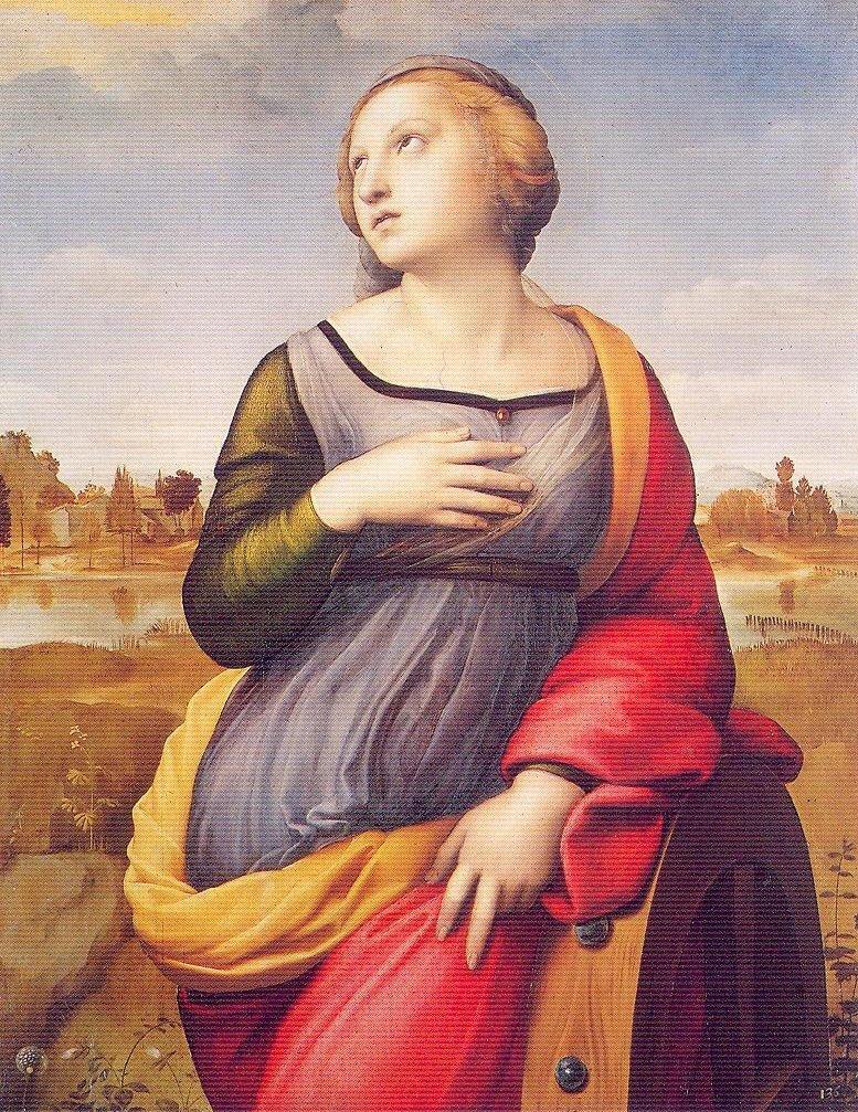 لوحة راهبة الأسكندرية الأصلية