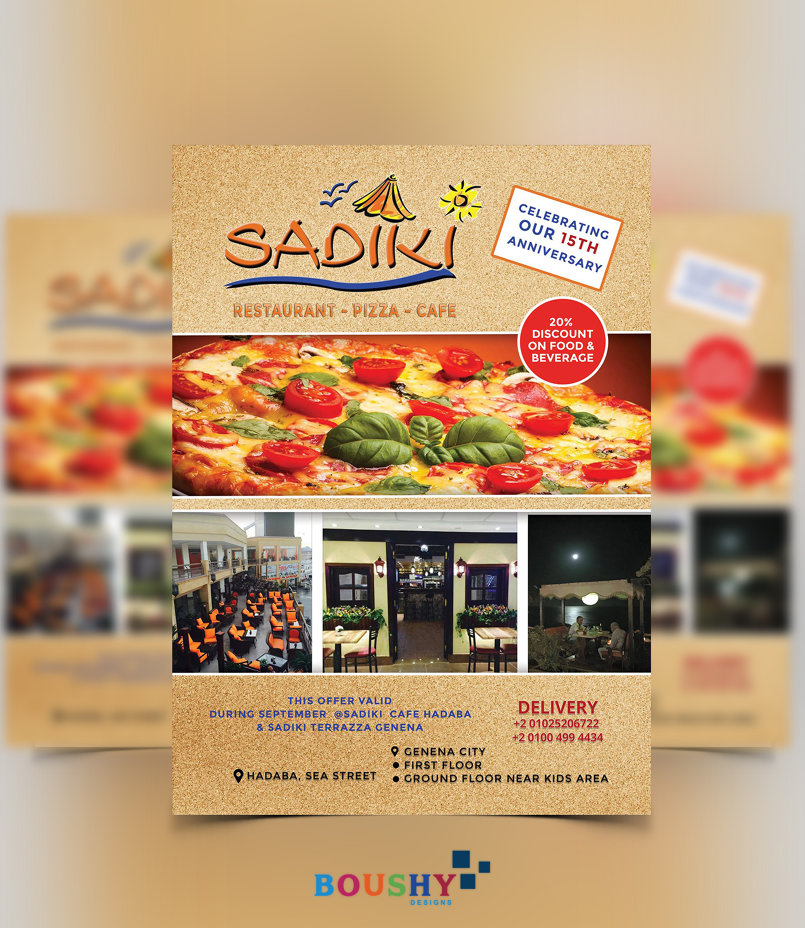 Sadiki Restaurant Flyer