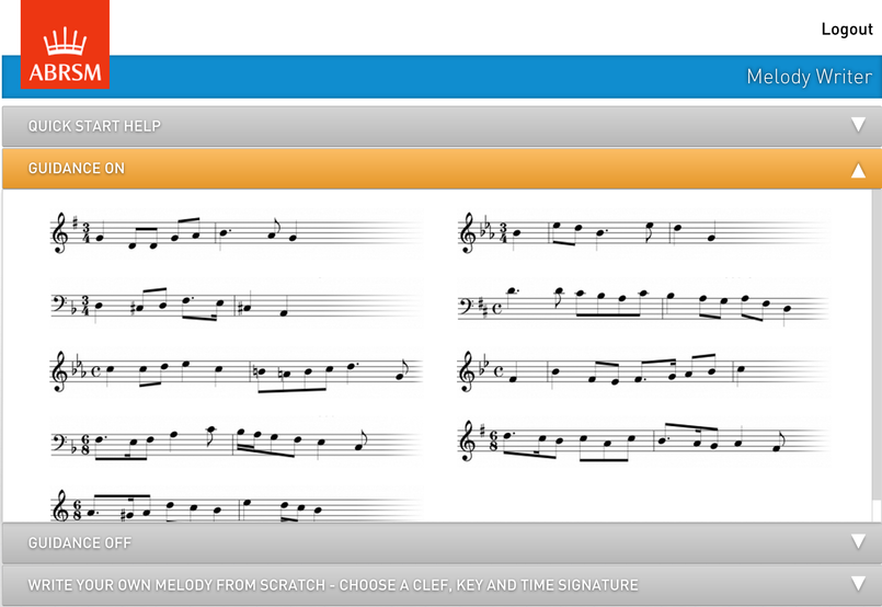 Choose a starting piece of melody, and then compose the rest of the 8 bars
