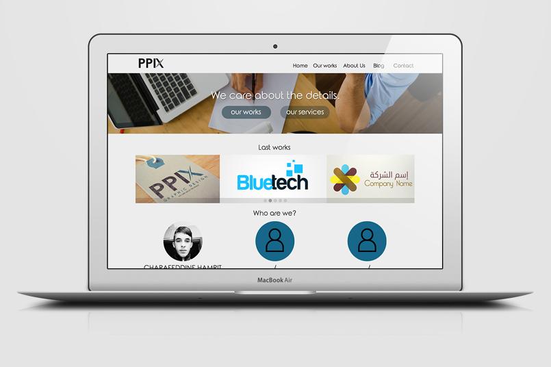 نموذج صفحة موقع PSD