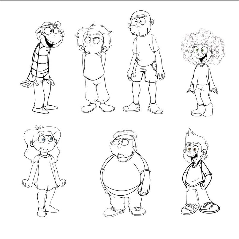 cartoons sketches