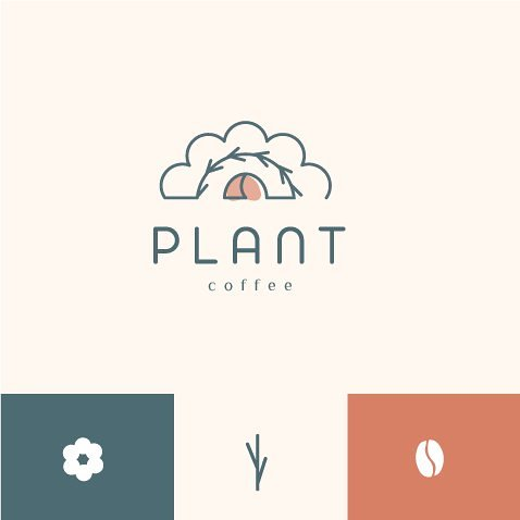 Logo plant coffee