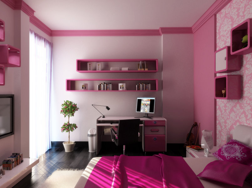 Girl Bedroom Interior Design - Alexandria