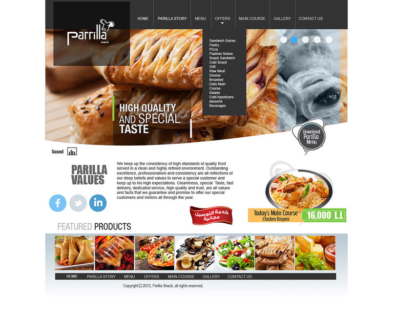 Parilla Snack ( Website )