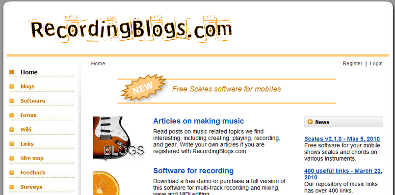 RecordingBlogs.com Home Page