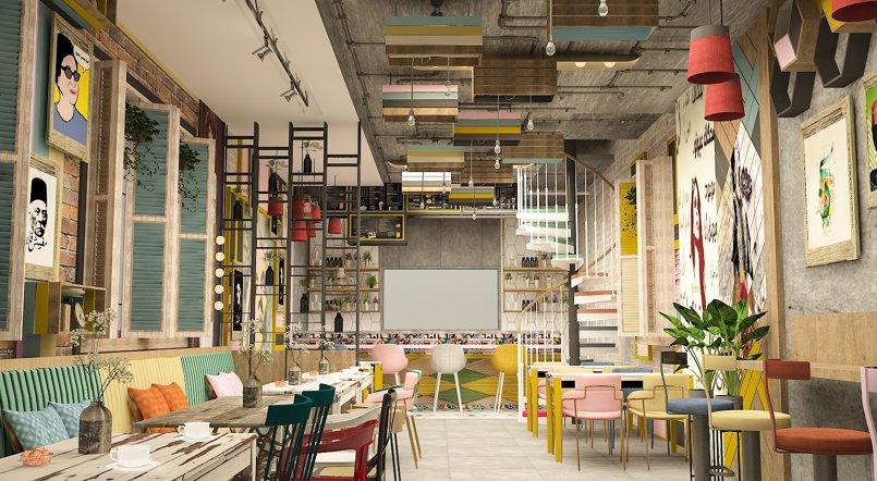 تصميم مطعم على الطراز اللبناني