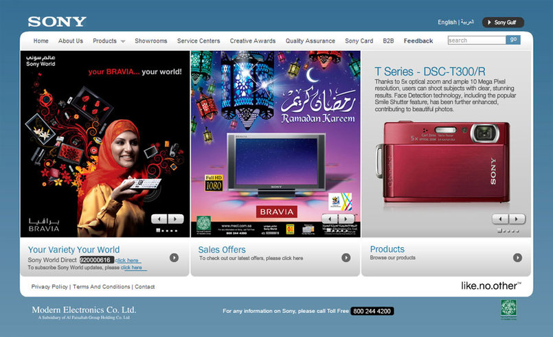 Home Page of Modern Electronics Co. Ltd