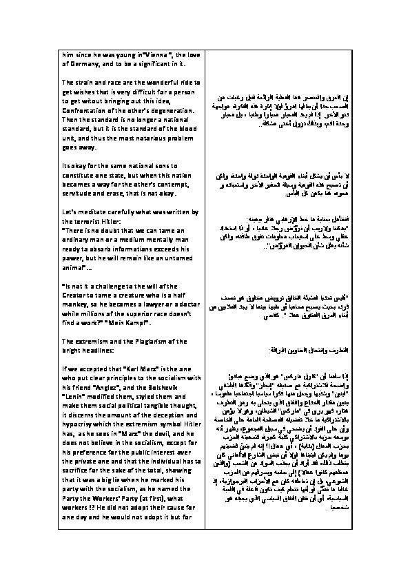 ترجمة صفحات من كتاب فن التطرف