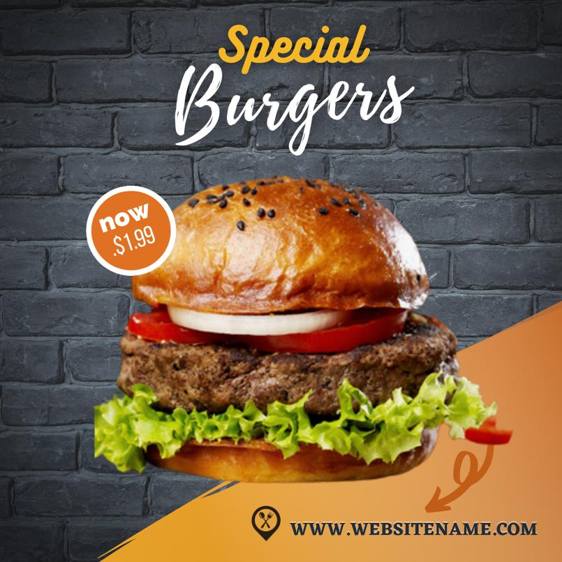 Burger advertisement