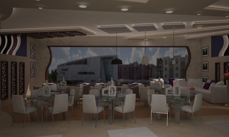 Interior design for a restaurant