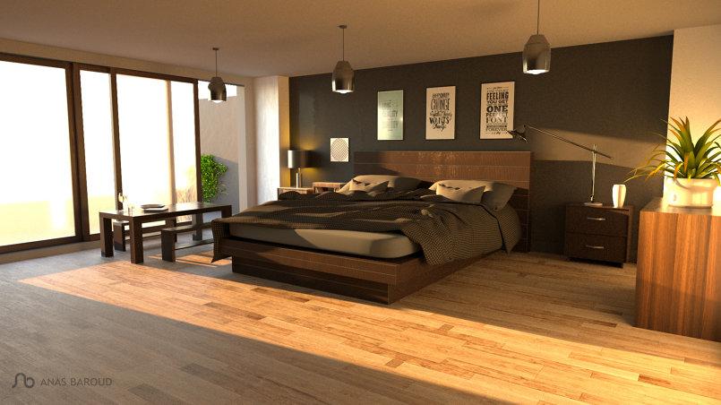 تصميم محترف لغرفة النوم .