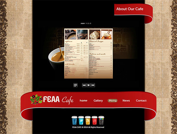 Creative Design for Website Coffee