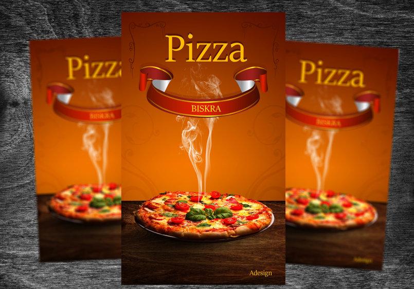 تصميم لافتة اشهارية ببرنامج الفوتوشوب /بيتزا