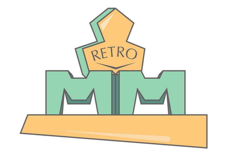 شعار شركة ام ام مودرن ريترو | تصميم فكرة
