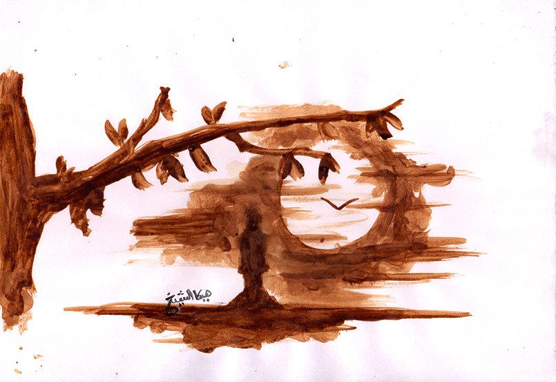 رسم بالنسكافيه