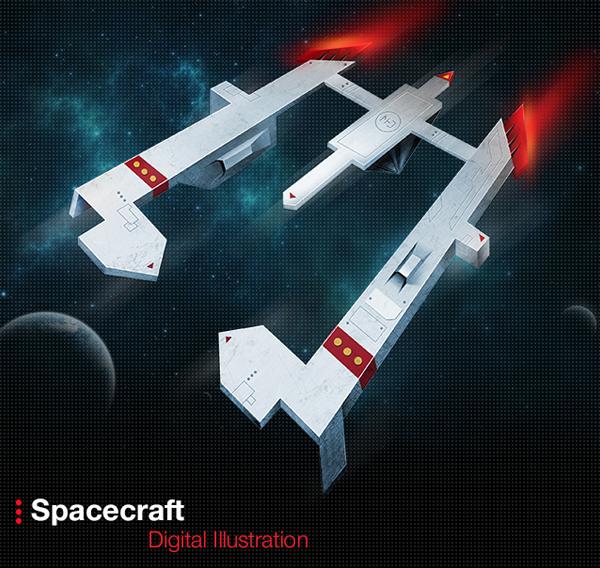 Spacecraft Digital Illustration