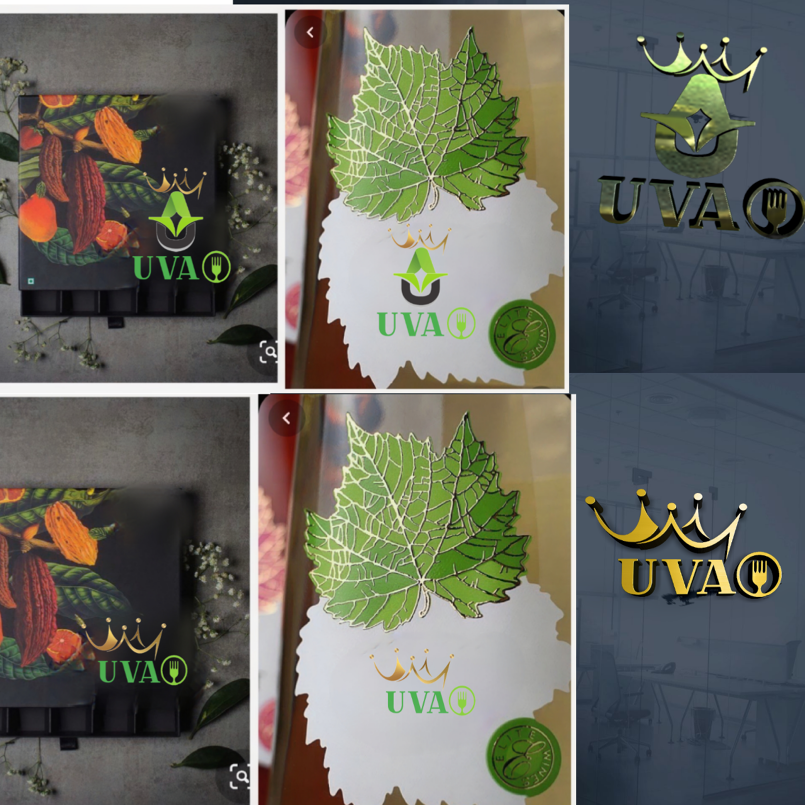شعار لشركه uva متجر بيع ورق عنب منزليا