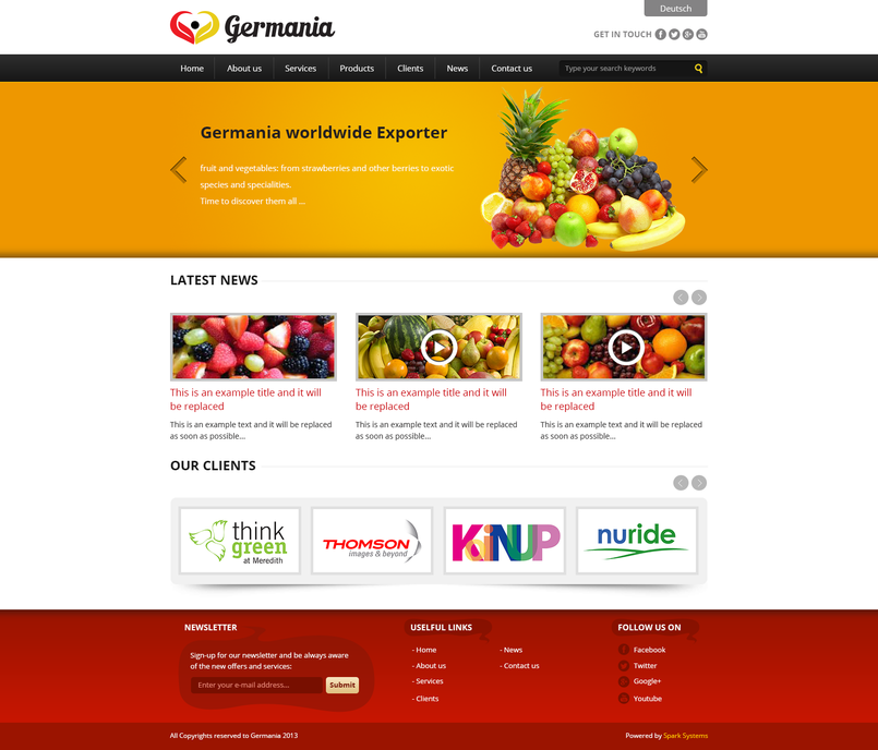 Germania Logo & website