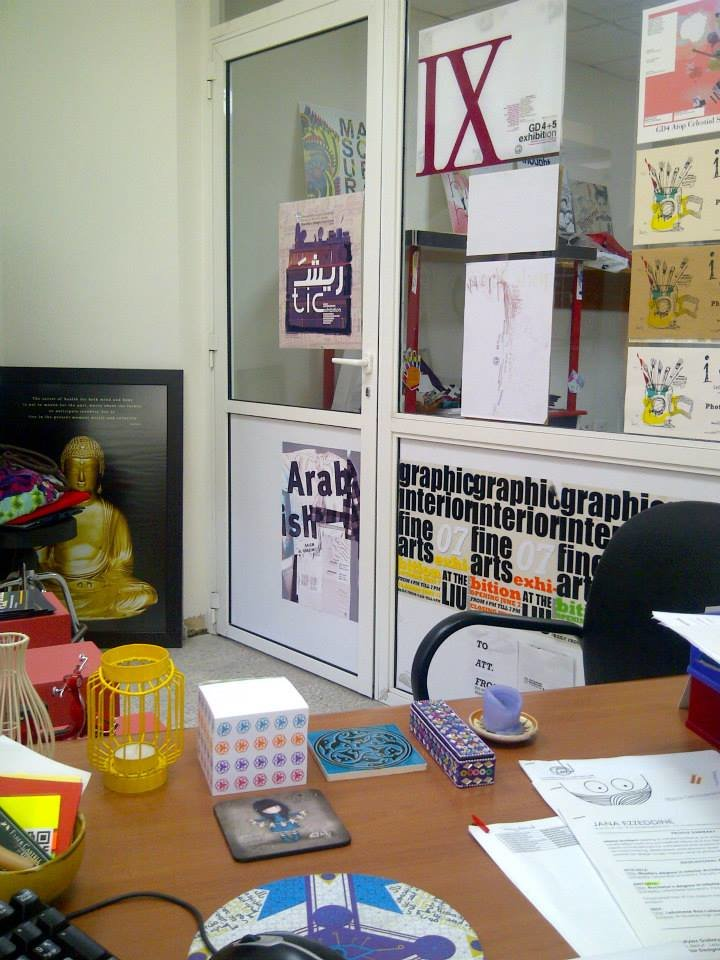 Exhibition posters displayed in my previous office.