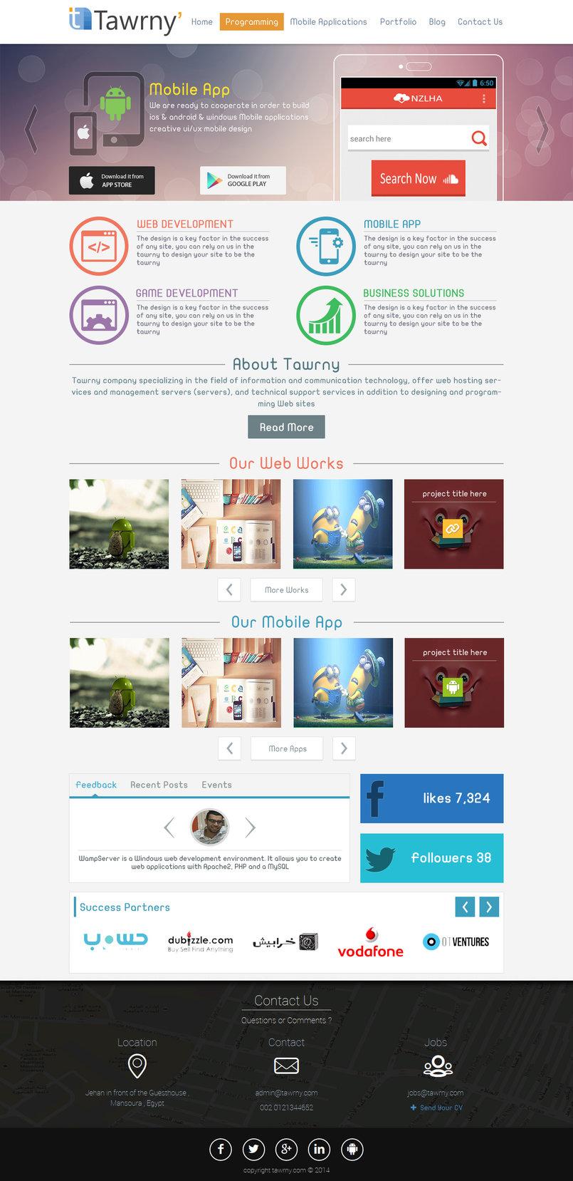 Tawrny v3.0 template design