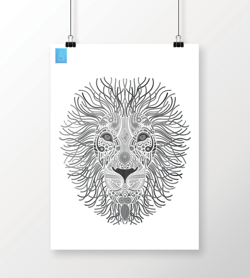 Lion Illustration Draw