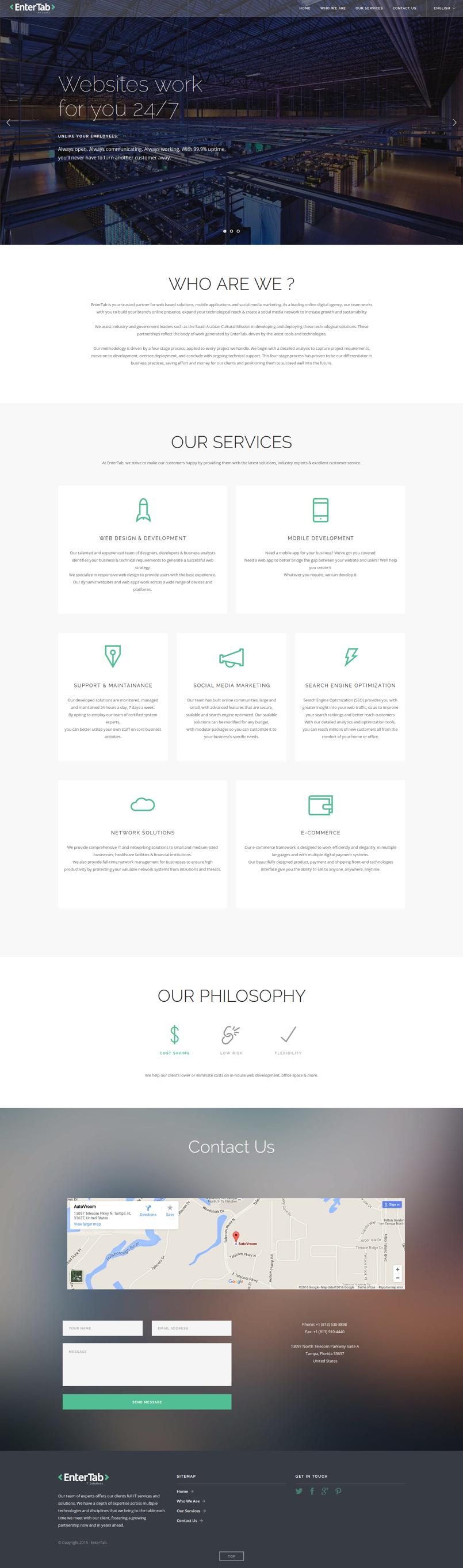 موقع تعريفي بشركة إنترتاب