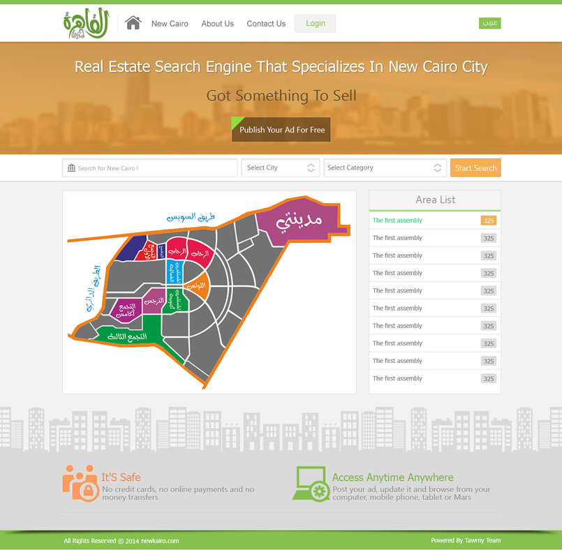 new cairo real estate web template