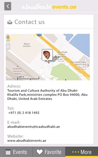Abu Dhabi Events Application  -V2
