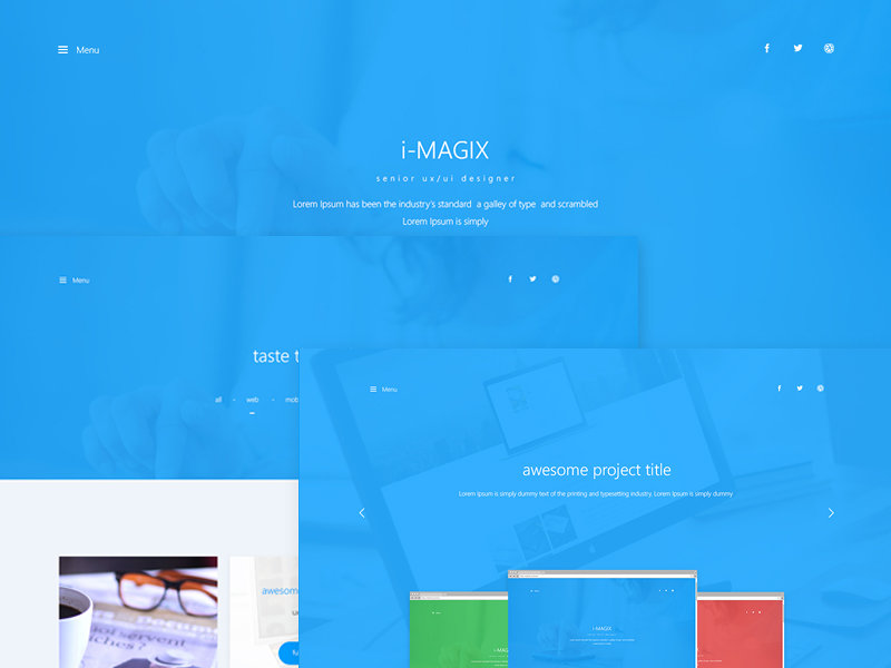 IMAGIX - Personal Website PSD