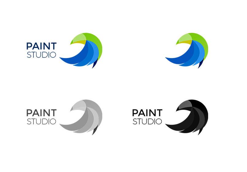 تصميم شعار إحترافي وهوية PAINT STUDIO