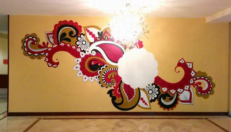 جدارية في فندق Landmark عمان بحجم 3x7 m