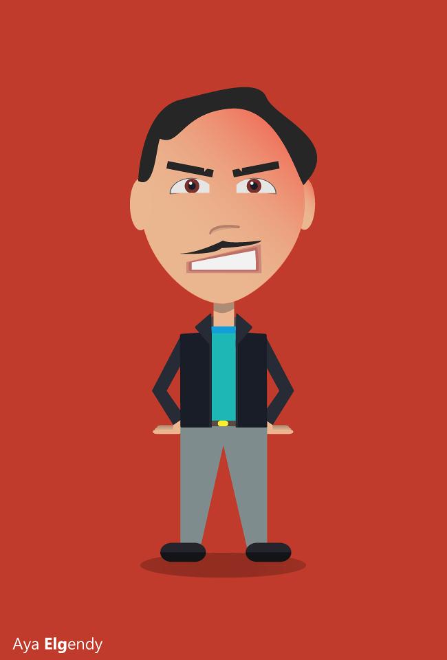 Angry Man Character