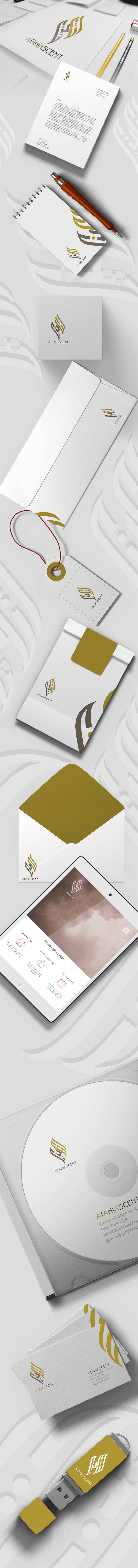 Logo design and identity ata - تصميم شعار وهوية اتانيا